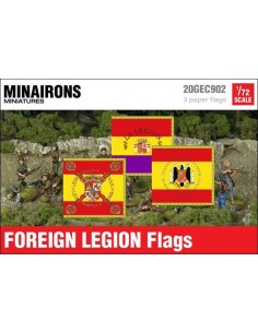 1/72 Spanish Foreign Legion flags