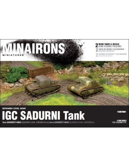 1/100 IGC Sadurní Tank - Boxed set