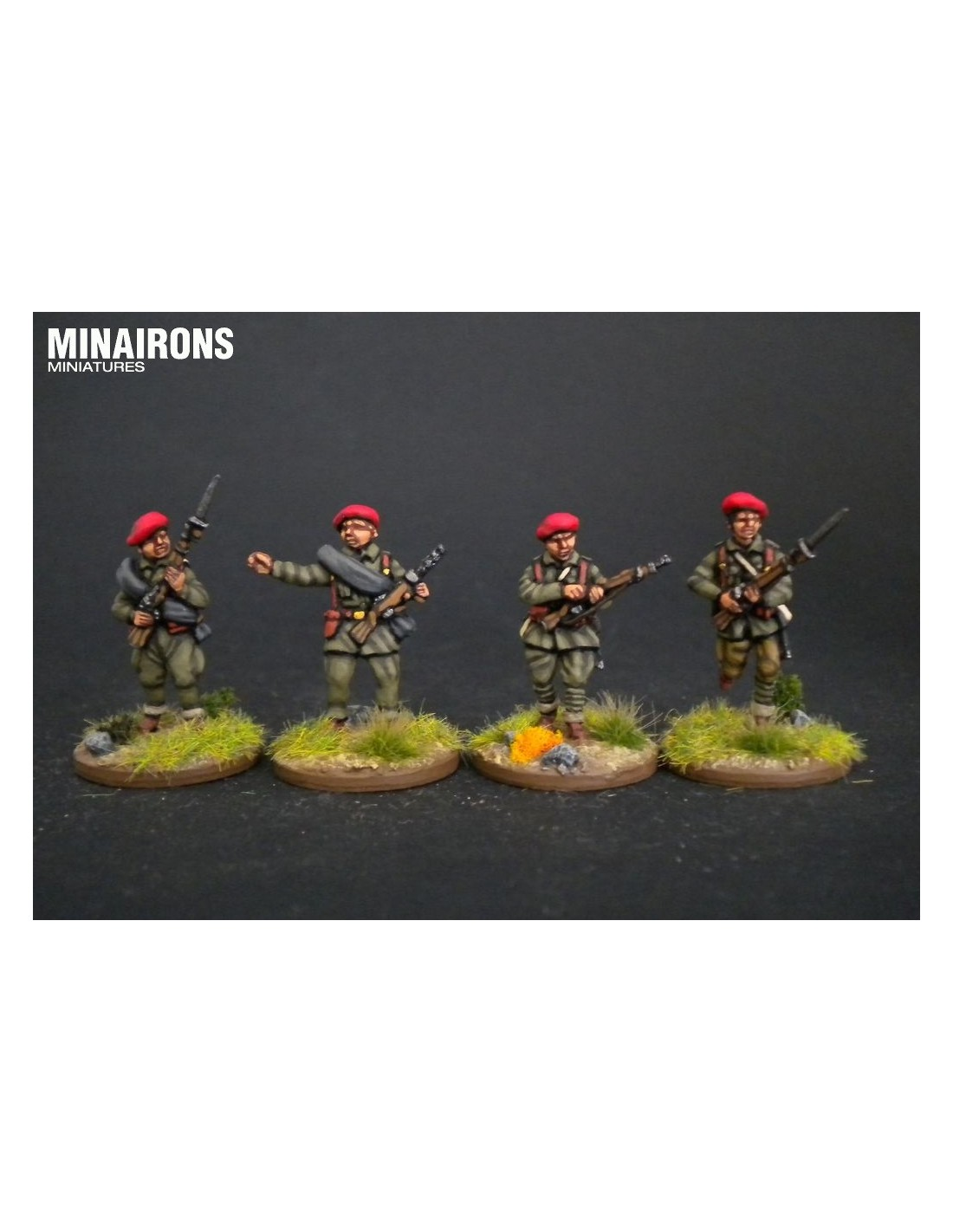 Minairons 1:100 Requeté traditionalist militia flags 15mm Spanish Civil War