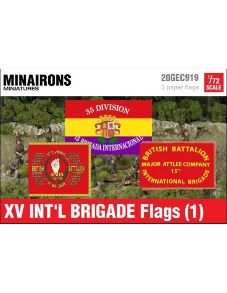 1/72 XV International Brigade Flags (1)