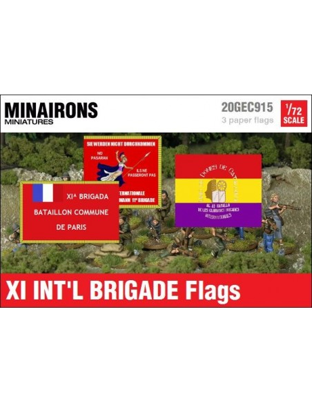 1/72 XI International Brigade Flags