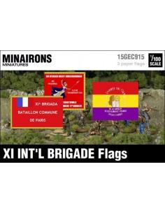 1/100 XI International Brigade Flags