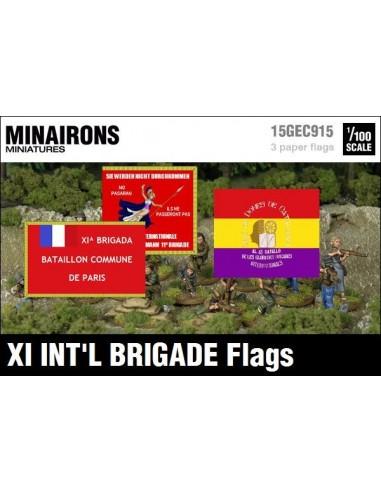 1/100 Banderes de la XI Brigada Internacional