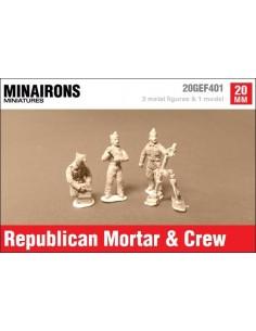 20mm Mortero Stokes-Brandt y dotación republicana