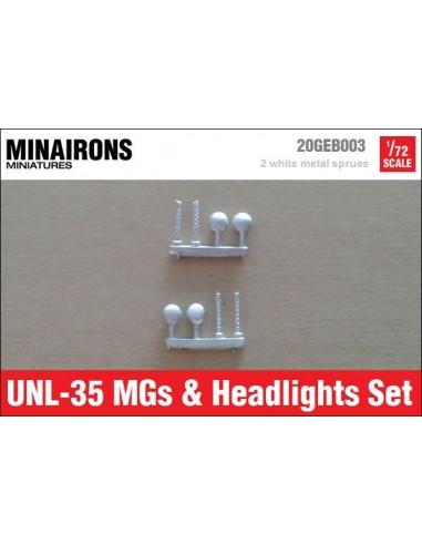 1/72 Ametralladoras y faros del UNL-35