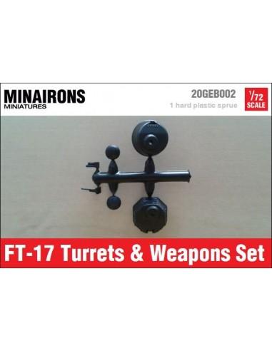 1/72 Torretes i armes del FT-17