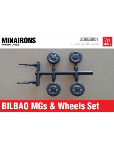 1/72 Ametralladoras y ruedas del Bilbao