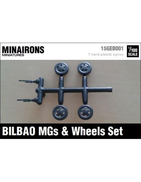 1/100 Ametralladoras y ruedas del Bilbao
