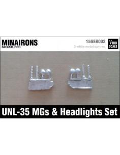 1/100 Ametralladoras y faros del UNL-35