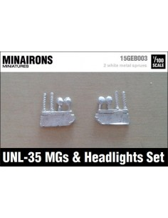 1/100 UNL-35 MGs & lights set