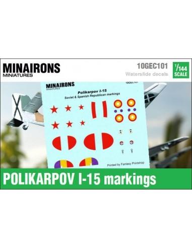 1/144 Polikarpov I-15 markings