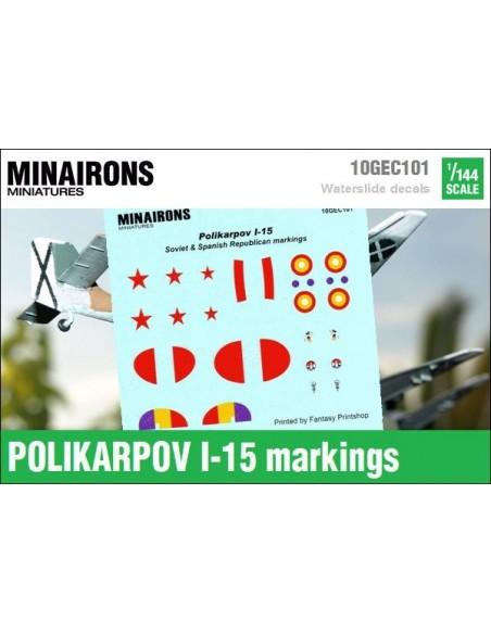 1/144 Distintivos del Polikarpov I-15