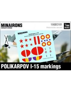 1/100 Distintius del Polikàrpov I-15