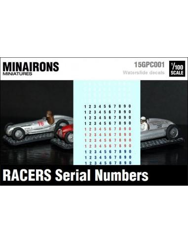 1/100 Numeraciones automovilísticas