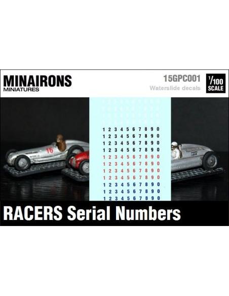 1/100 Numeracions automobolístiques