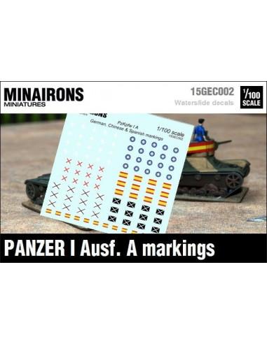 1/100 Distintivos del Panzer I A