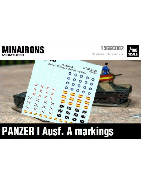 1/100 Panzer I A markings