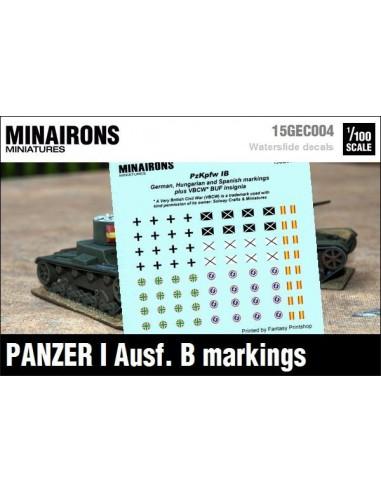 1/100 Panzer I B markings