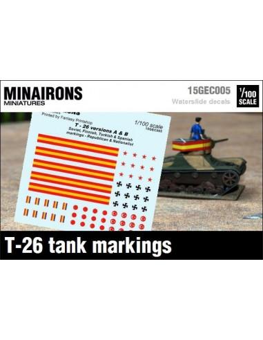 1/100 Distintivos del T-26 A y B
