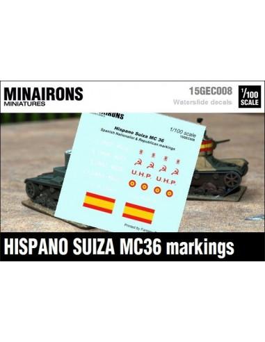 1/100 Distintivos del Hispano Suiza MC-36