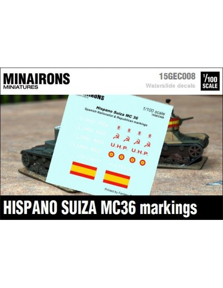 1/100 Distintius de l'Hispano Suiza MC-36