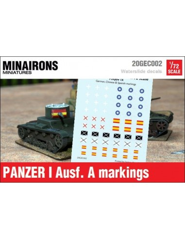 1/72 Distintivos del Panzer I A