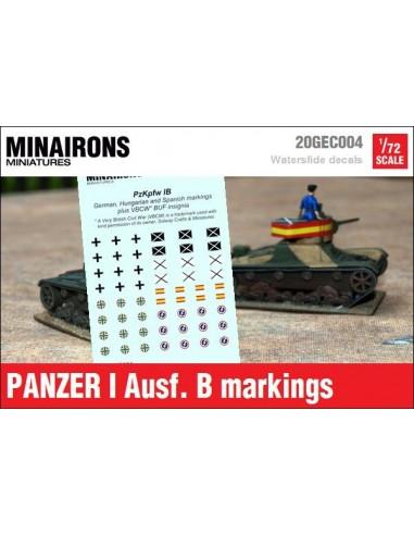 1/72 Distintivos del Panzer I B
