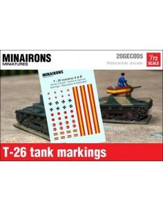 1/72 Distintius del T-26 A i B