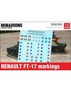 1/72 Distintius del Renault FT-17