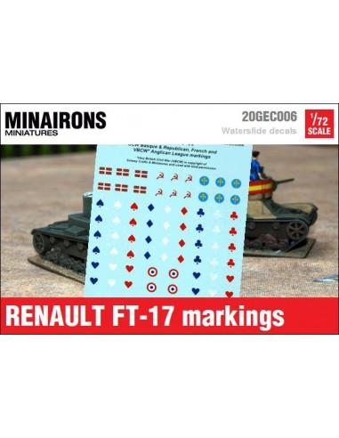 1/72 Distintius del Renault FT-17