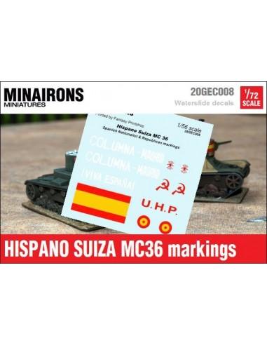 1/72 Distintius de l'Hispano Suiza MC-36
