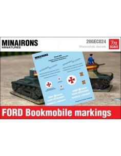1/72 Distintivos del Bibliobús Ford AA