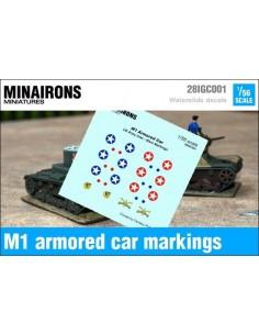 1/56 Distintivos del auto blindado M1