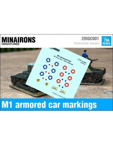 1/56 Distintius de l'auto blindat M1