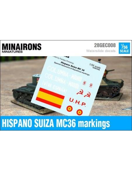 1/56 Distintivos del Hispano Suiza MC-36