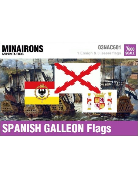 1/600 Spanish Galleon flags