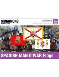1/600 Spanish Man-of-war flags