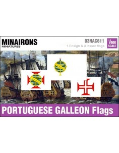 1/600 Portuguese Galleon flags