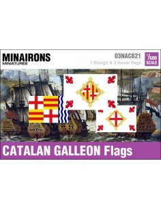 1/600 Catalan Galleon flags