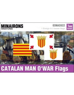 1/600 Catalan Man-of-war flags