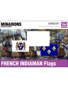 1/600 French Indiaman flags