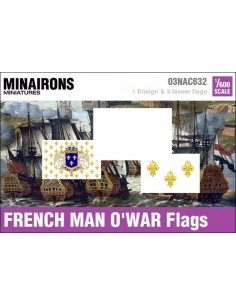 1/600 French Man-of-war flags