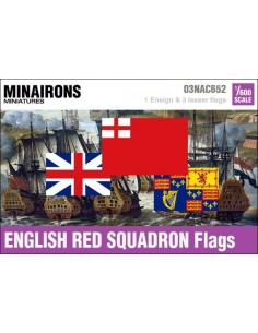1/600 English Red Squadron flags