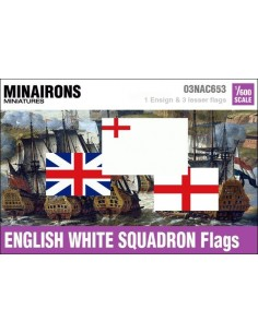 1/600 English White Squadron flags