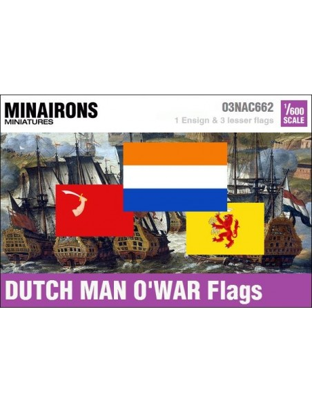 1/600 Dutch Man-of-war flags