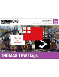1/600 Thomas Tew pirate flags