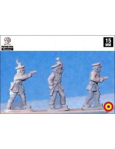 15mm Oficiales republicanos en gorra de plato