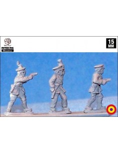 15mm Republican officers in peaked cap