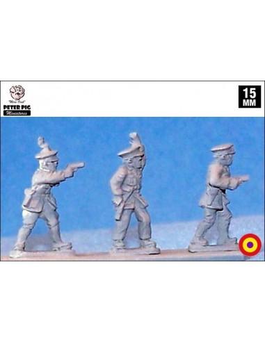 15mm Republican officers in peaked cap