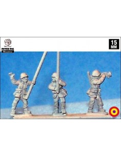 15mm Republican standard bearers and buglers